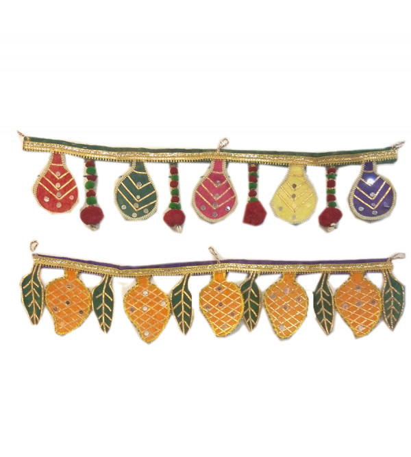 Handcrafted  Fabric Toran  With String