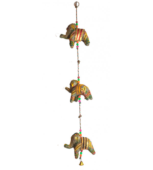 Traditional Stuff Toys of Rajasthan Elephant  Jute  Hanging Size 3 Inch