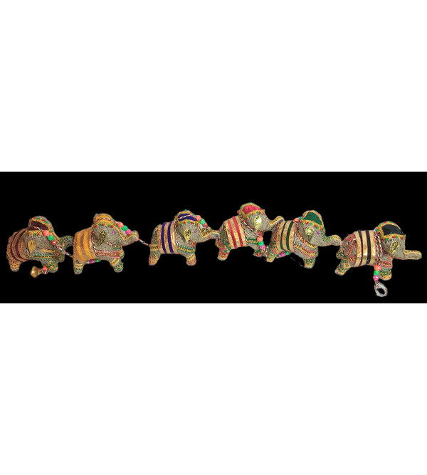 Traditional Stuff Toys of Rajasthan Elephant  Jute  Hanging Size 50 Inch