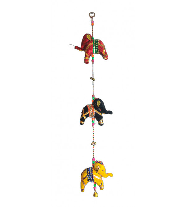 Traditional Stuff Toys of Rajasthan Elephant  Hanging Size 3 Inch