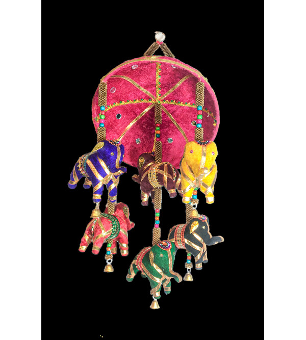 Traditional Stuff Toys of Rajasthan Jhoomer Elephant  Size 20 Inch