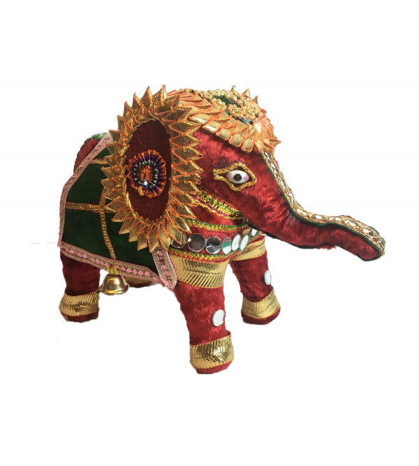Traditional Stuff Toys of Rajasthan Elephant  Size 6 Inch