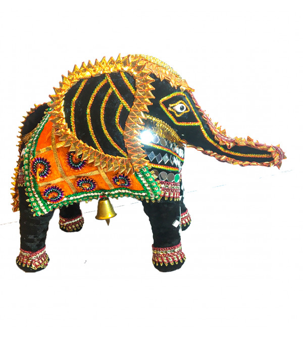 Traditional Stuff Toys of Rajasthan Elephant  Size 10 Inch