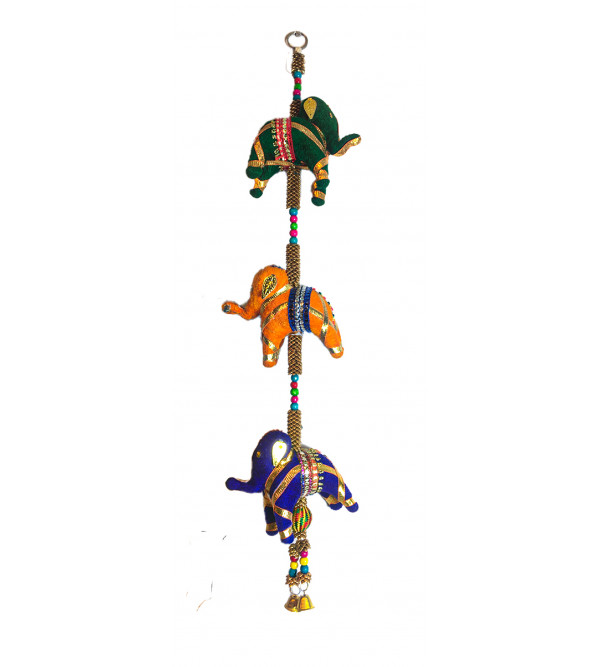 Traditional Stuff Toys of Rajasthan Elephant  Hanging Size 20 Inch