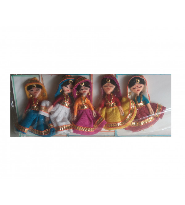 Handcrafted Fabric doll  Card Set Size 9x2 Inch