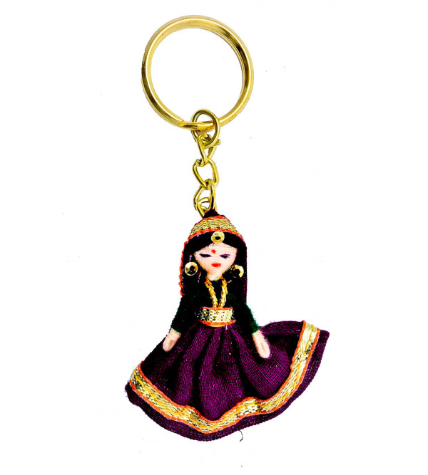 Handcrafted Fabric Doll  Key Ring Size 2 Inch