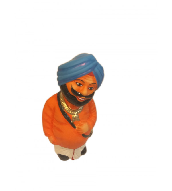 Miniature Clay Toy Dancing Head Figure Size 6 Inch