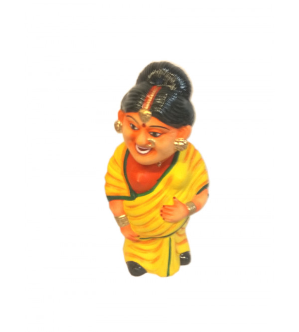 Miniature Clay Toy Dancing Head Figure Size 10 Inch