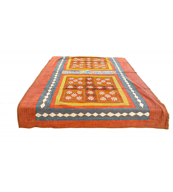 Cotton Applique Work Table Cover Size 60x90 Inch