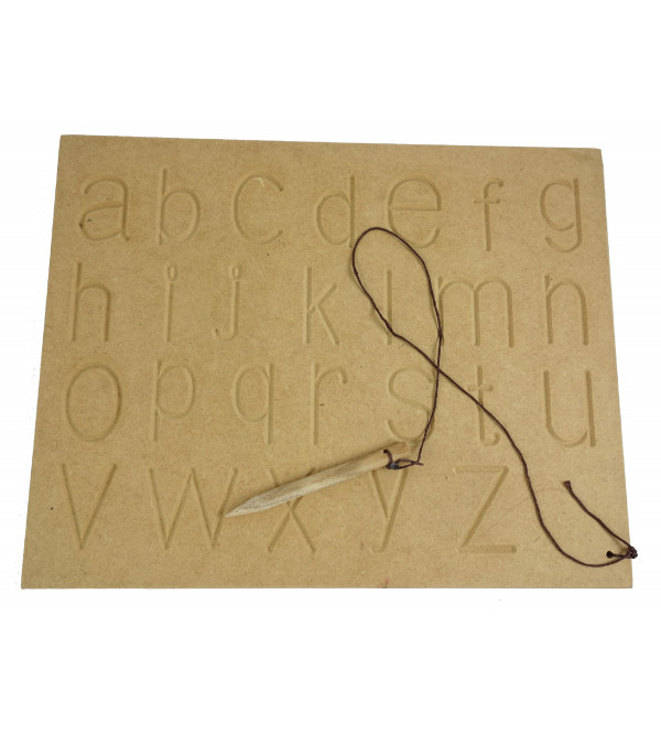 Education Toy  Wooden Carving ABC Lower Case