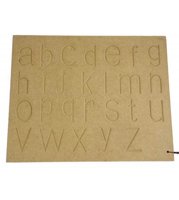 HANDICRAFT WOODEN EDUCATION TOY CARVING ABC LOWER CASE