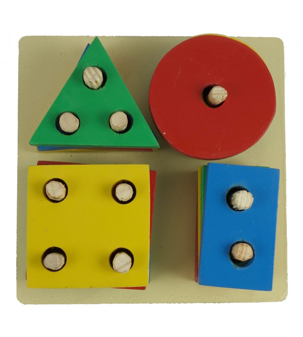 HANDICRAFT WOODEN EDUCATION TOY SHAPE AND COLOR