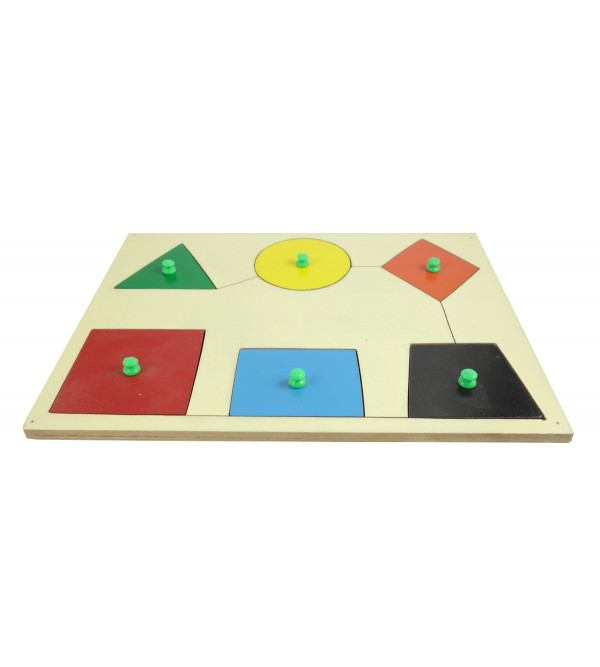 HANDICRAFT WOODEN EDUCATION TOY SHAPE SORTING
