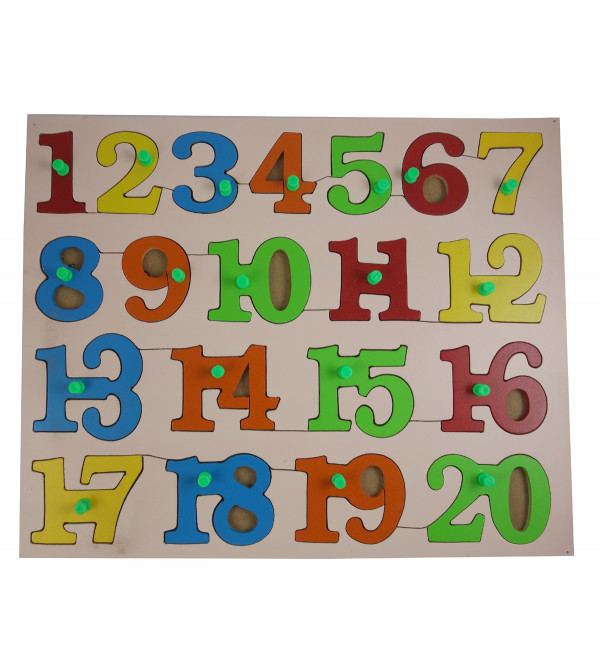 HANDICRAFT WOODEN EDUCATIONAL TOYS NUMBER COUNTING