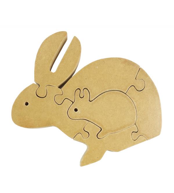 Education Toy Wooden Jigsaw Puzzle Rabbit Shape