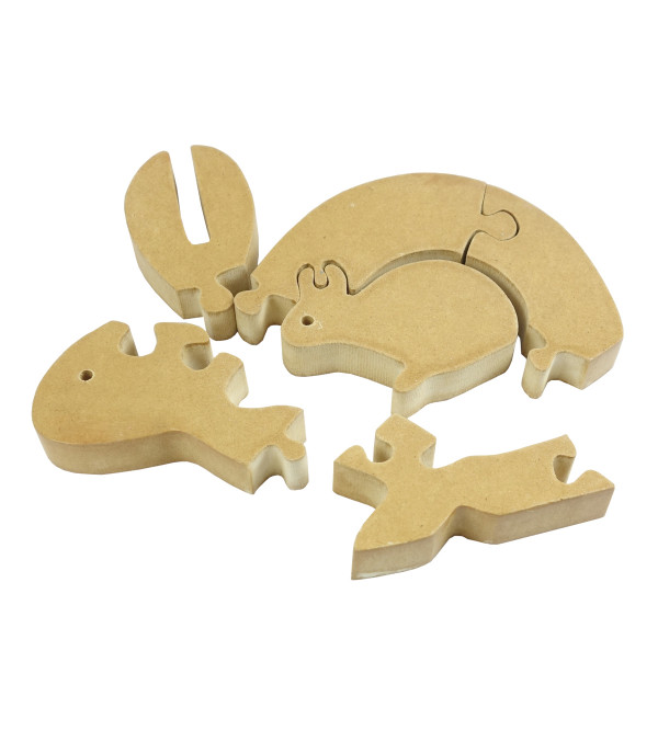 HANDICRAFT WOODEN EDUCATION TOY INTERLOCKING PUZZLES