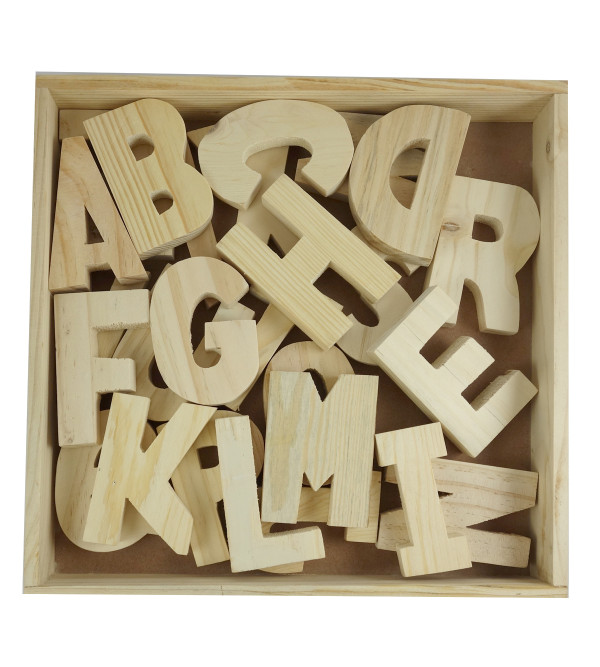 HANDICRAFT WOODEN TOYS ALPHABETS