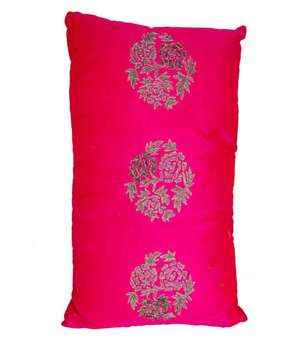 Long Silk Embroidary Pillow Cover 12x19 Inch with Filling
