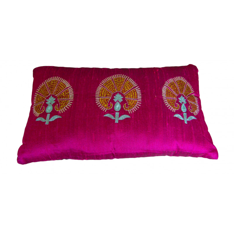 Silk Pillow Cover with Filling 9x16 Inch