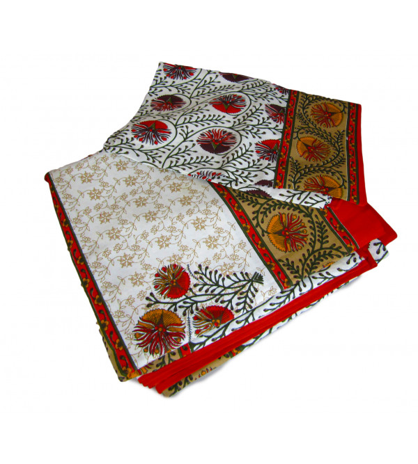 Cotton Bed Cover with Assorted Desings and Colours 108x108 Inch