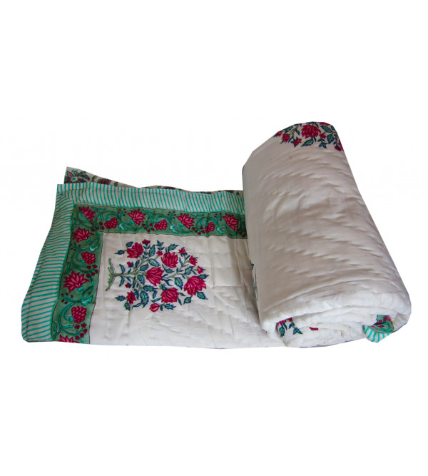 Cotton Quilt Assorted Block Printed 60 X 90 Inch