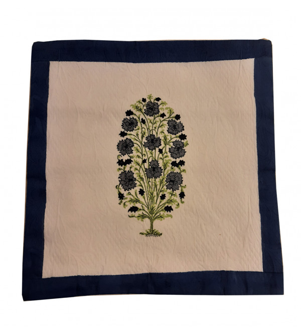 Cotton Hand Block Printed Cushion Cover Size 16x16 Inch