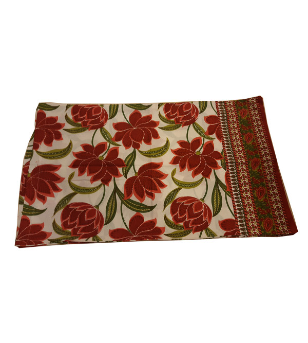 Cotton Hand Block Printed Pillow Cover Size 17x27 Inch