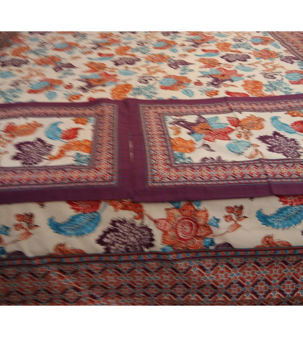 Cotton Block Printed Bed Cover Size 90x108 Inch