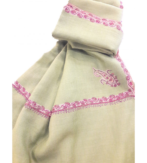 Woollen Shawl Hand Embroidered in Kashmir Size,40X80 Inch