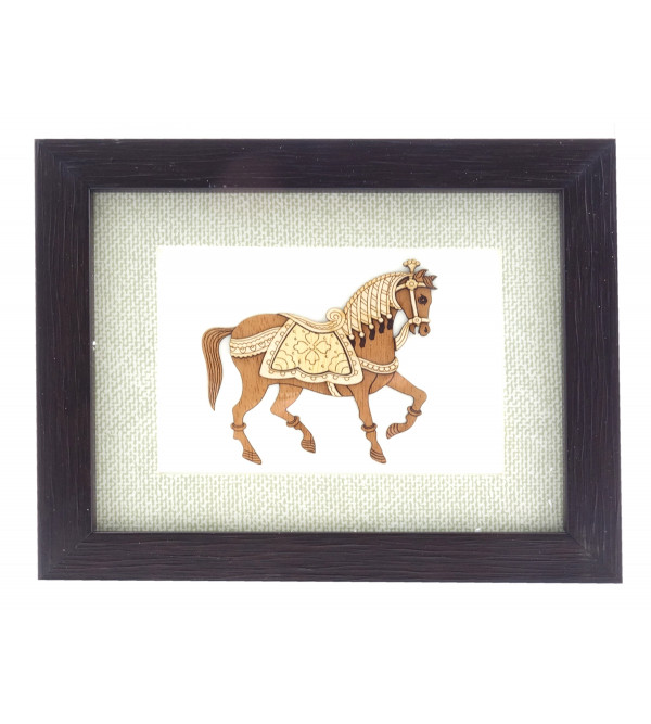 HORSE 5 X 6 INCH WOODEN ART PICTURES
