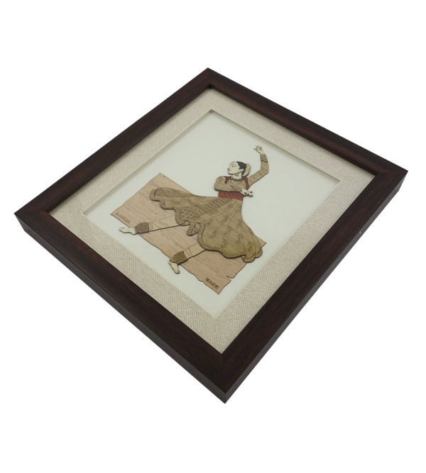 KATHAK 9 X 10 INCH  WOODEN ART PICTURES