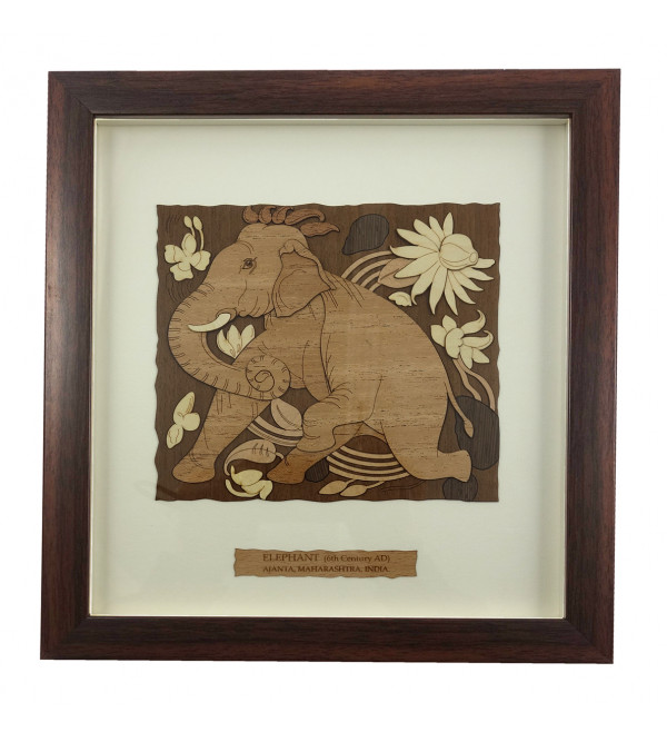 AJANTA ELEPHANT 9 X 10 WOODEN ART PICTURES