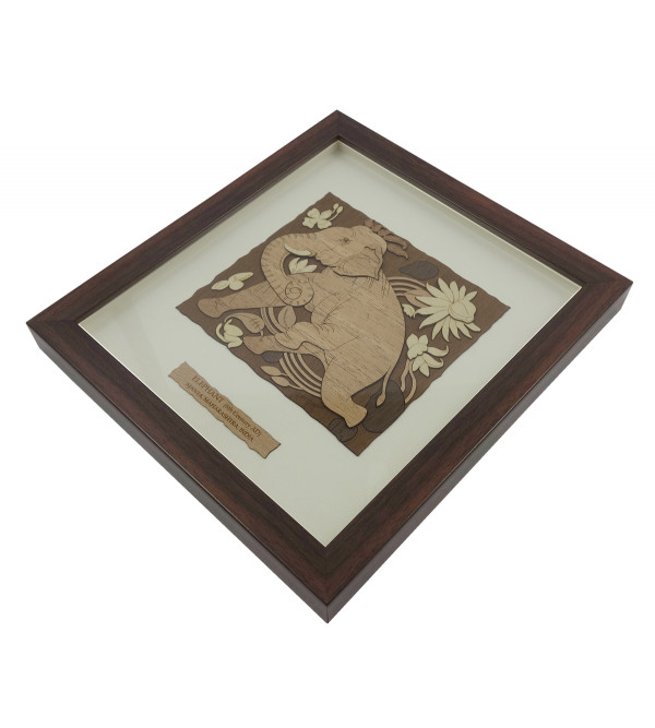 AJANTA ELEPHANT 9 X 10 INCH  WOODEN ART PICTURES