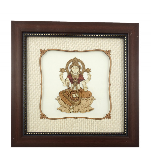 LAXMI 8 X 8 INCH WOODEN ART PICTURES