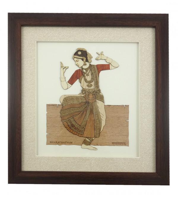 BHARATNATYAM 9 X 10 INCH WOODEN ART PICTURES