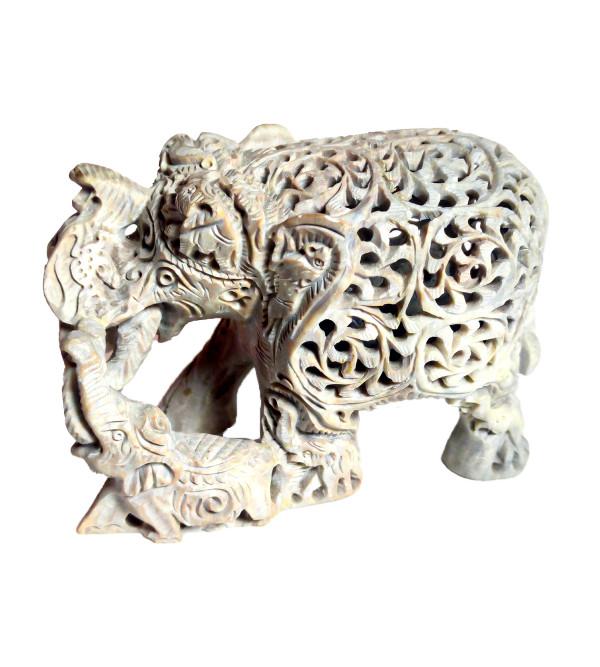 Soap Stone Undercut Elephant Size 5 Inch