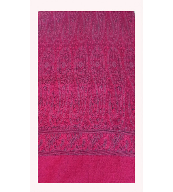 Silk Wool Handwoven Shawl from Varanasi Size,40X80 Inch