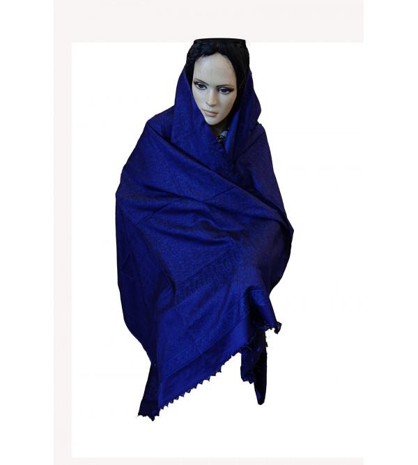 Silk Wool Handwoven Shawl from Varanasi Size,40X80 Inch