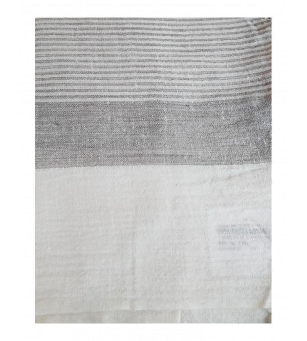 Angora Woolen Stripe Stole Handwoven In Himachal Pradesh Size,28x80 Inch