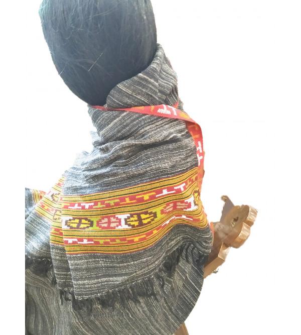 Yak Woolen Shawl Handwoven In Himachal Pradesh Size,40x80 Inch