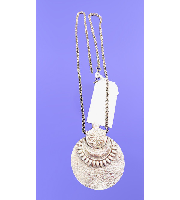 92.5 SILVER  PENDENT SETCHAIN EMORSED