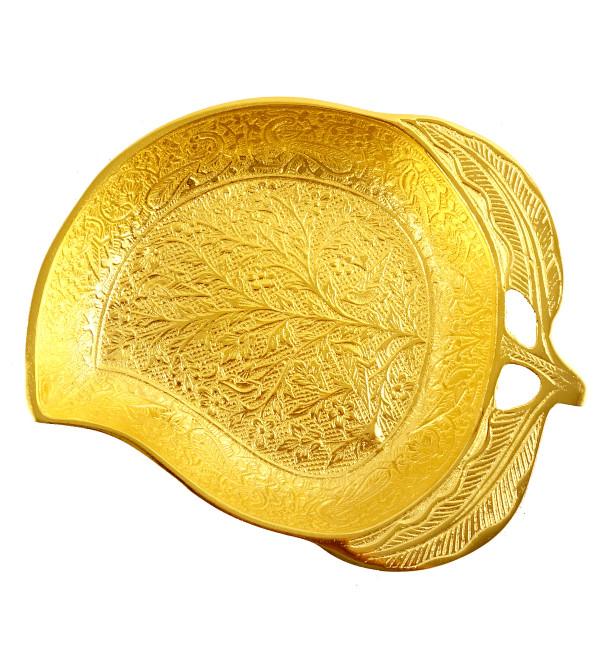 Handicraft Mango Bowl Brass Gold Plated