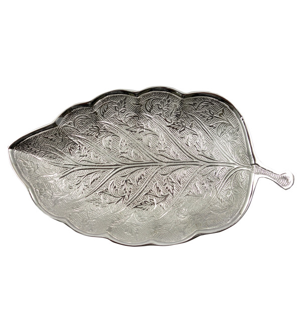 Handicraft Brass Silver Plated Leaf
