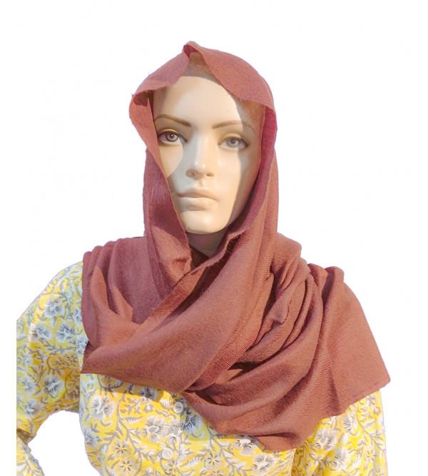 Pashmina Stole Handwoven in Kashmir Plain Size ,28X80 Inch