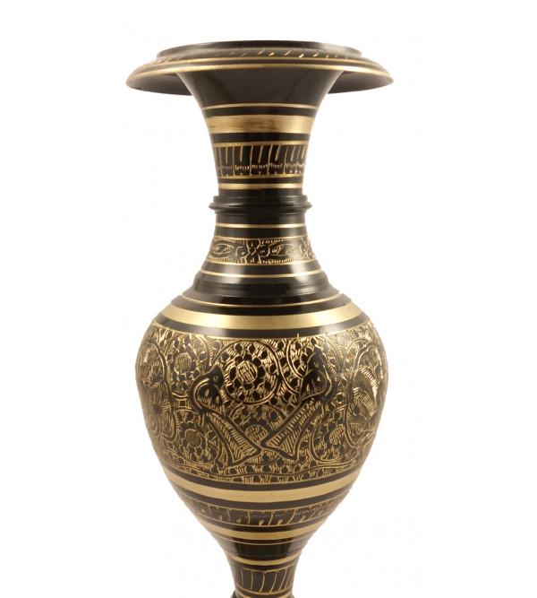 Handicraft Brass Kashmiri Flower Vase Nili Chiken 14 Inch