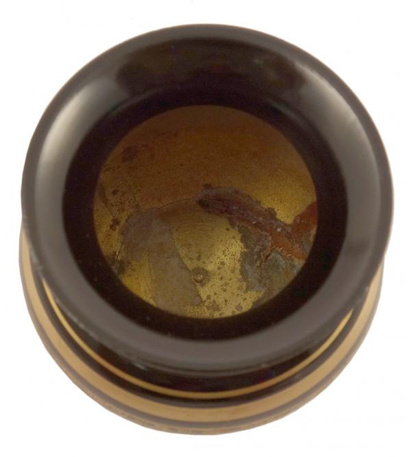 Handicraft Brass Ghara Black Enamel 4 Inch