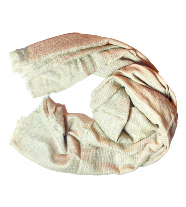 Pashmina Stole Hand Woven in Kashmir Stripes Size,28X80 Inch