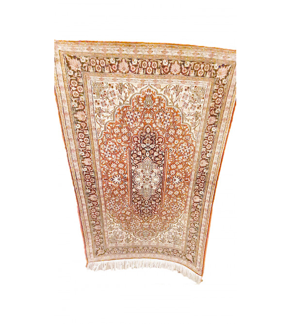CARPET SILKSILK 2X3 28X28 IVORY BASE
