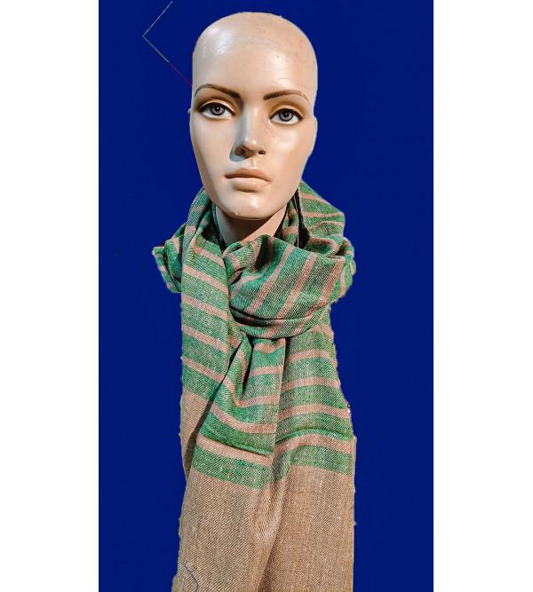 Cashmere Hand Woven Stripe Pashmina Stole Size,28X80 Inch