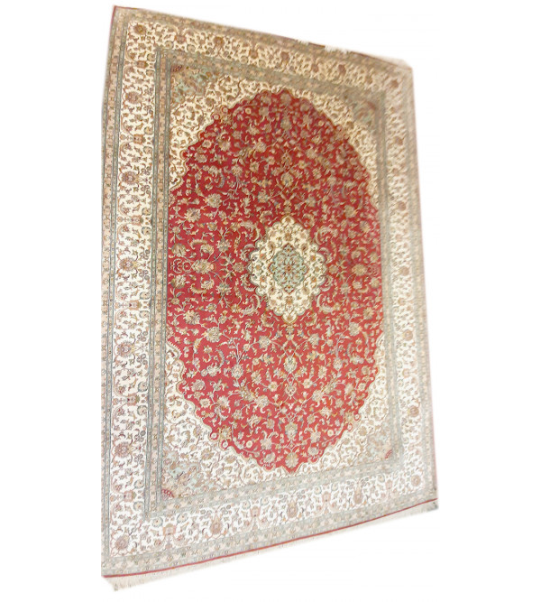 Carpet Hand-knotted Silk x Silk Size 6ftx9ft